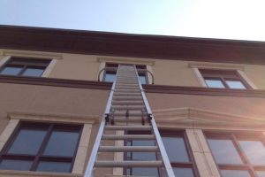 Ladder under window