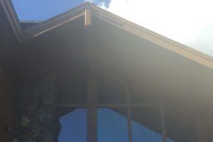 Clean windows on church